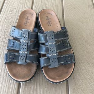 Clarks Collection  6.5 Leisa Spring Brown Sandals